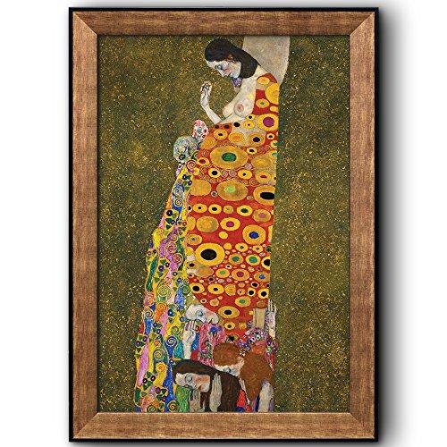 Hope II by Gustav Klimt Framed Art