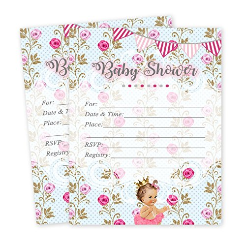 (Baby Shower Princess Invitations Tutu for Girl 20 count and envelopes)