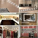 Viugreum Makeup Mirror Lights,Dimmable 60Leds LED Vanity Light Kits,10FT 1200LM Daylight White 6000K Waterproof DIY Module Lights With Switch Dimmer for Bathroom Cosmetic Makeup Vanity Table