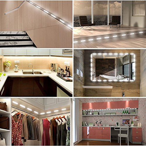 Viugreum Makeup Mirror Lights, Dimmable 60Leds LED Vanity Light Kits, 10FT 1200LM Daylight White 6000K Waterproof DIY Module Lights with Switch Dimmer for Bathroom Cosmetic Makeup Vanity Table by Viugreum (Image #1)