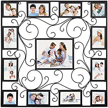 Amazon.com - Extra Large Metal Multi Photo Collage Frame - Picture ...