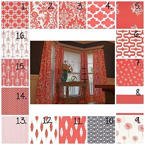 Amazon.com: Coral Curtain Panels Coral Drapes Coral Nursery Curtains ...