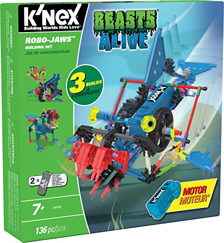 engineering toys for 3 year olds K'NEX – Beasts Alive Robo-Jaws Building Set – 136 Parts – Ages 7+ – Engineering Educational Toy