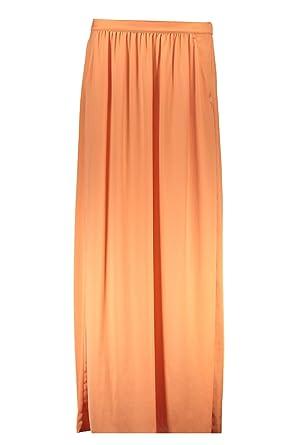 LIU JO W65131 T8185 Falda larga Mujer naranja 61435 42: Amazon.es ...