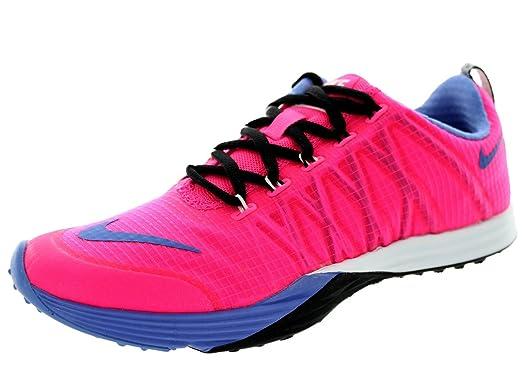 Nike Women's Lunar Cross Element Pink Pow/Polar/Black/White Running Shoe 7