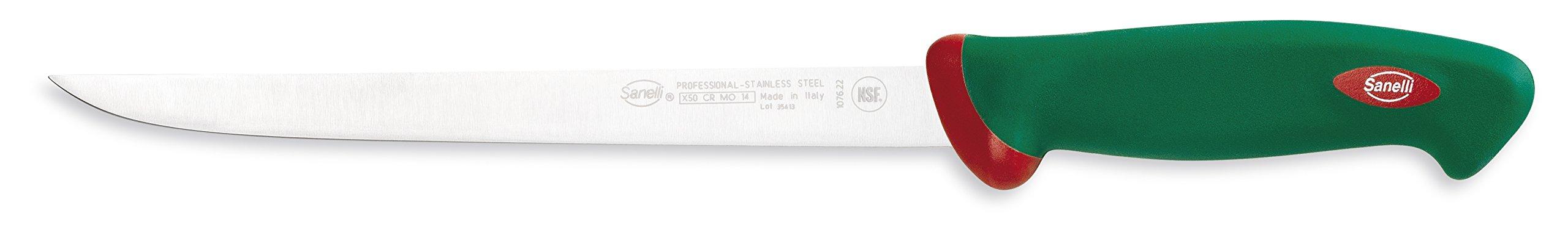 Sanelli Premana Professional Fillet Knife, 22cm/8.66'', Green by Sanelli