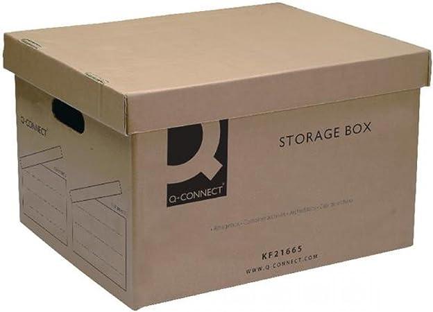 Q-Connect KF21665 - Caja de archivo, 335 x 400 x 250 mm: Amazon.es ...