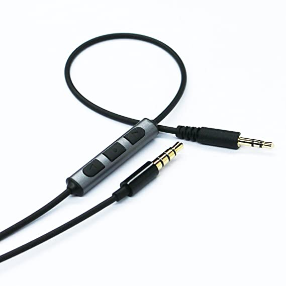 Replacement Audio Cable for Bowers /& Wilkins P5 Headphones Cordable Renewal Audio Lead for P5 P7 Headphones with Remote and Mic for IOS