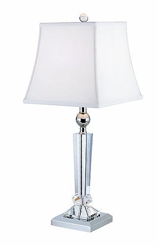 Trans Globe Lighting CTL-114 Crystal Table Light, Chrome