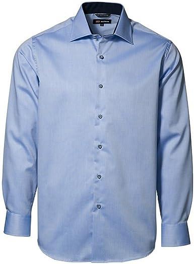 ID Camisa Formal clásica de Manga Larga de fácil Planchado con Ligero Entallado de Hombre: Amazon.es: Ropa y accesorios