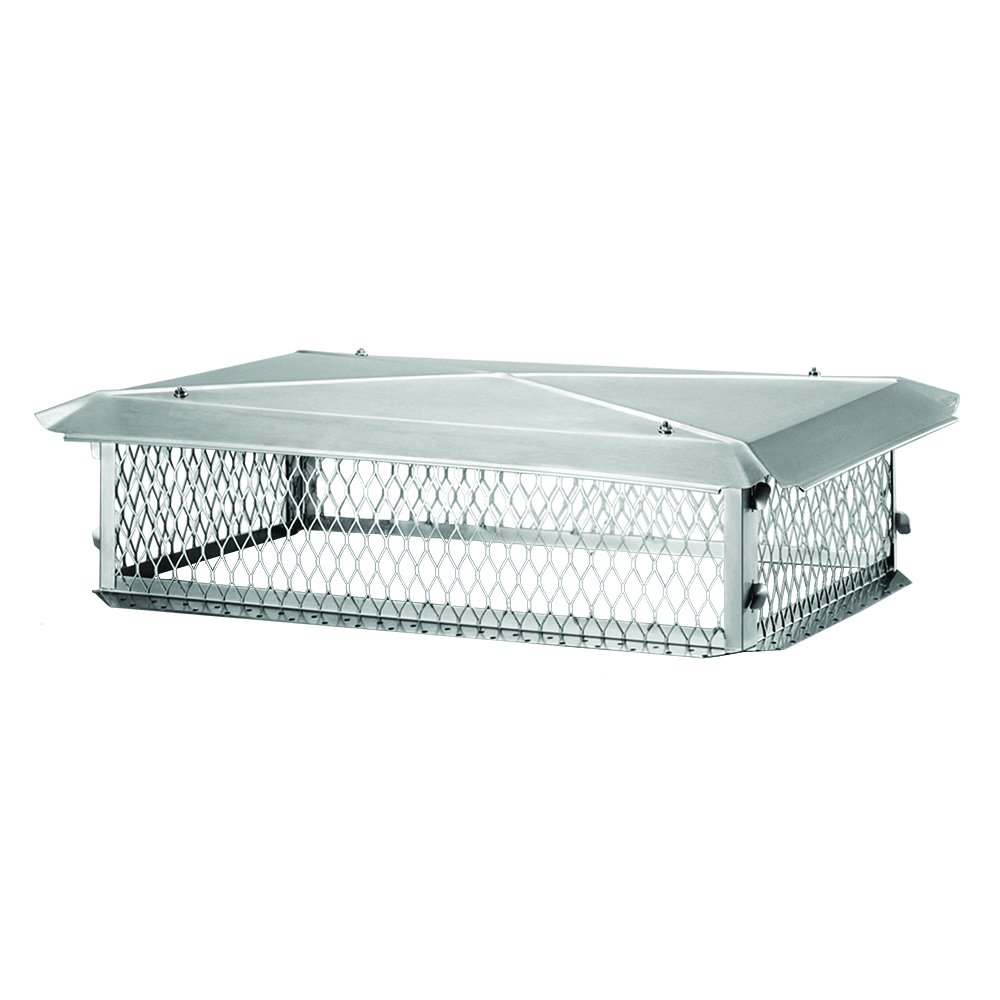 BigTop BT1421K Stainless Steel Chimney Cover, 8'' x 14'' x 21''