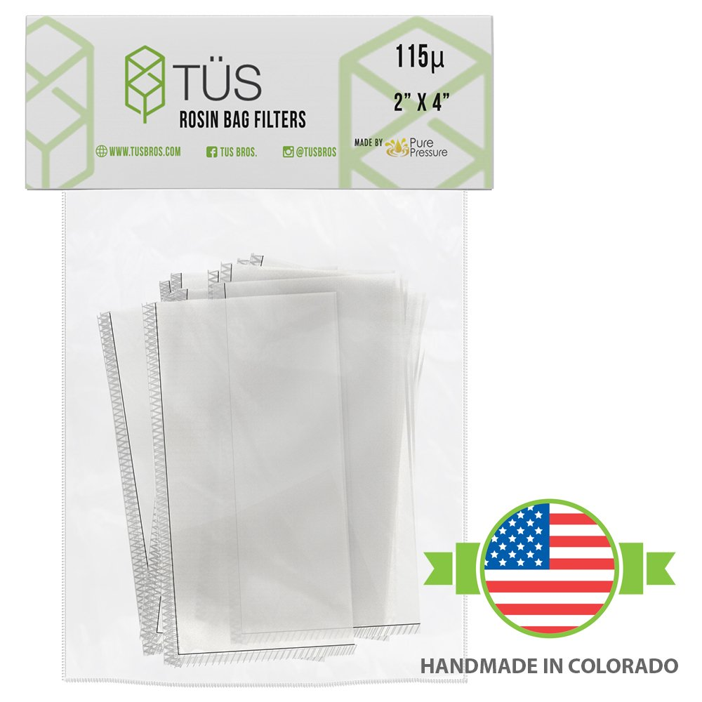 115 Micron Rosin Press Squish Bags • 2'' x 4'' • 20 Pack • 115u Microns Filter Screen Made from Polyester ft. Proprietary Stitching- Heavy Duty Rosin Tech Bag Highly Rated for Zero Chances of Blowout