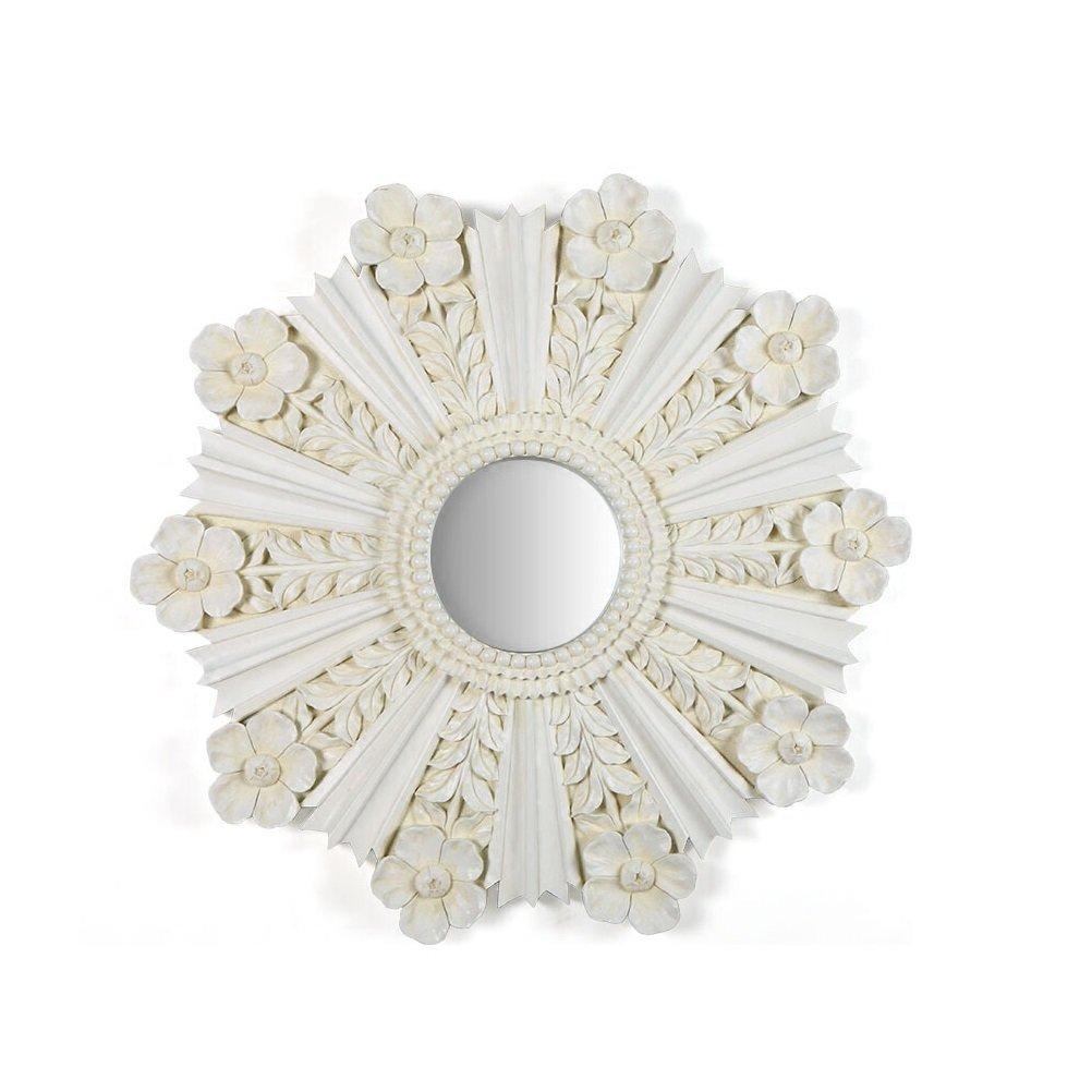 樹脂ゴールド/シルバー : B07F6HK2KN/アイボリー壁掛け式ヨーロッパ式レトロ模造金属感覚エレガントなスタイリング昔の自然3次元彫刻に適したすべての機会3次元の壁の装飾クリエイティブ装飾的な鏡 (色 : 白 白) B07F6HK2KN 白, カー用品のcarpy:01ded9d8 --- rdtrivselbridge.se