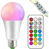 iLC Bombillas Colores RGBW LED Bombilla Regulable Cambio