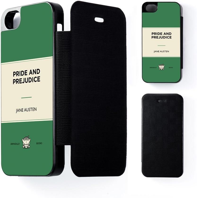 Orgullo y prejuicio de Jane Austen negro Funda con tapa para iPhone 5/5s de Armadillo libros + incluye Protector de pantalla: Amazon.es: Electrónica