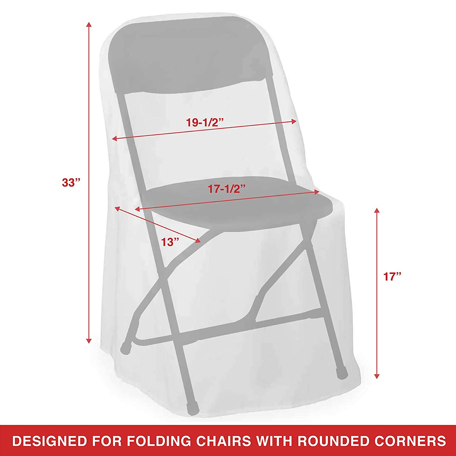 Lanns Linens - 10 Elegant Wedding/Party Folding Chair Covers - Polyester Cloth - White