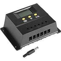 80A Controlador de carga solar Regulador de batería del panel solar, Controlador de carga solar Pwm 12V / 24V