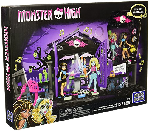 Mega Bloks Toy - Monster High Graveyard Garden Party 371 Piece Playset Cleo de Nile Lagoona Blue -