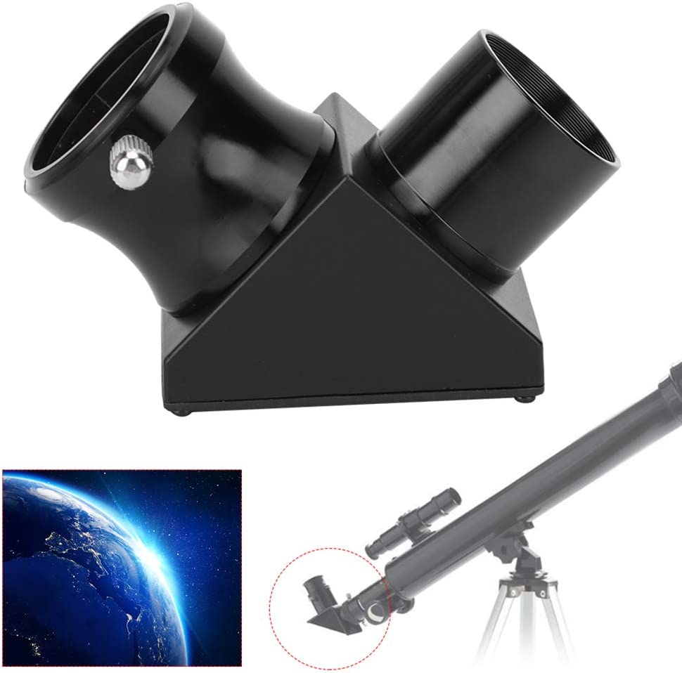 Qiterr 90 Degree Erect Image Lens Mirror 1.25 Inch DIY Homemade Astronomical Telescope Accessories Steering Mirror