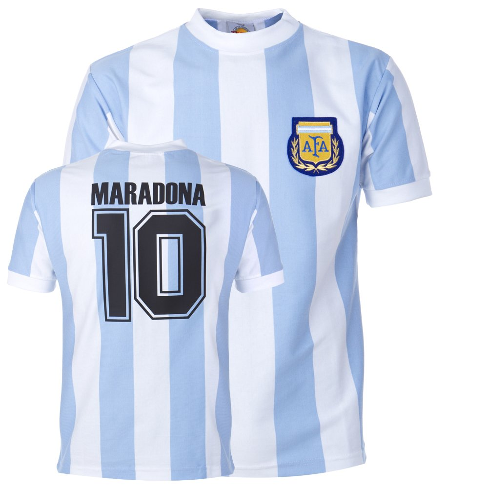 1f851f457e8 Toffs Argentina 1986 World Cup Maradona No. 10 Shirt  Amazon.co.uk  Sports    Outdoors
