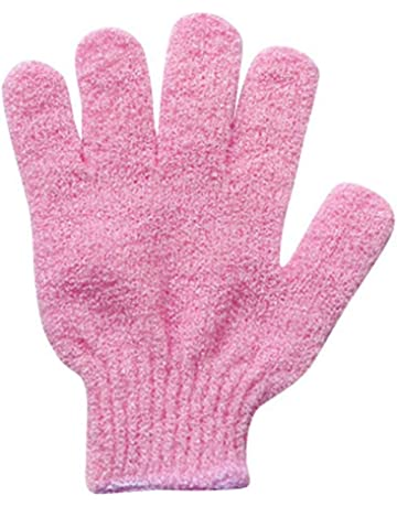 Hearty 4pcs Exfoliationg Gloves Bath And Shower Cleansing Smooth Soft Face Legs Body Hot Seling Bath & Shower