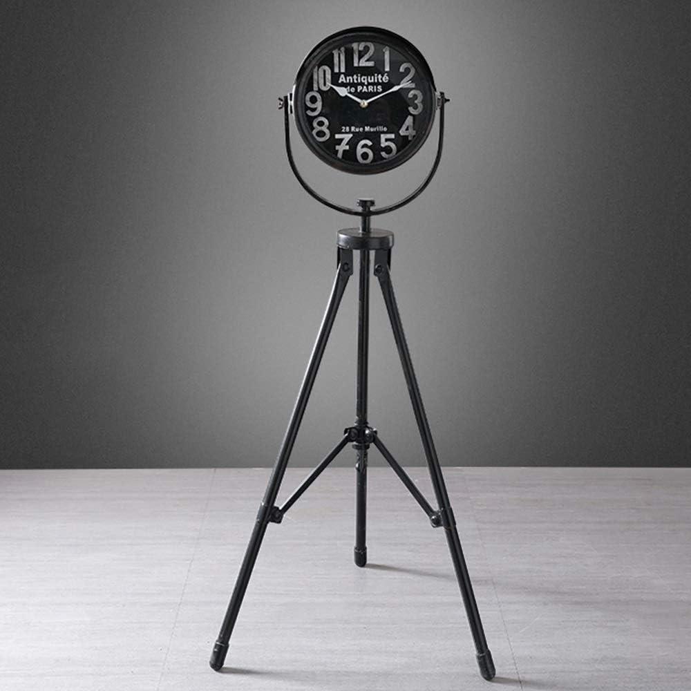 LPLHJD Reloj de Pared Hierro Forjado Faro Decorativo Relojes y Adornos de artesanía Sala Pavimento 50 * 50 * 112 (cm)