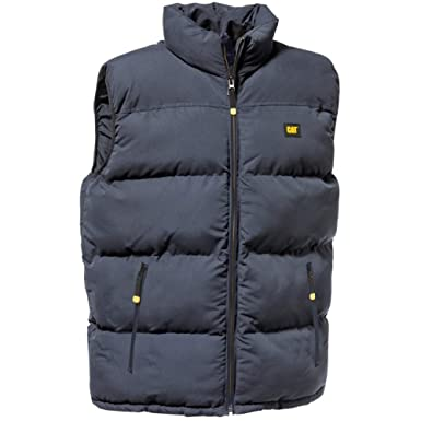 Caterpillar Mens Quilted Insulated Vest Bodywarmer Gilet Navy