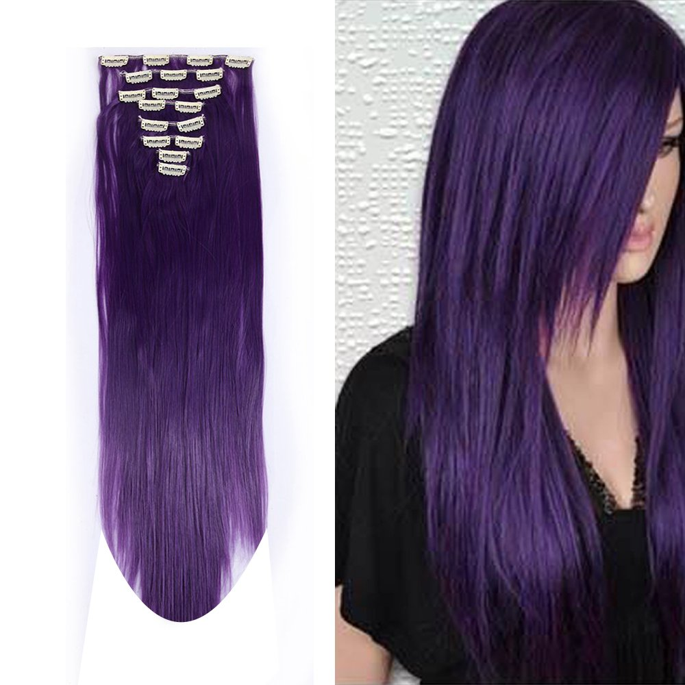 Amazon S Noilite 8pcsset Full Head Clip In Hair Extensions