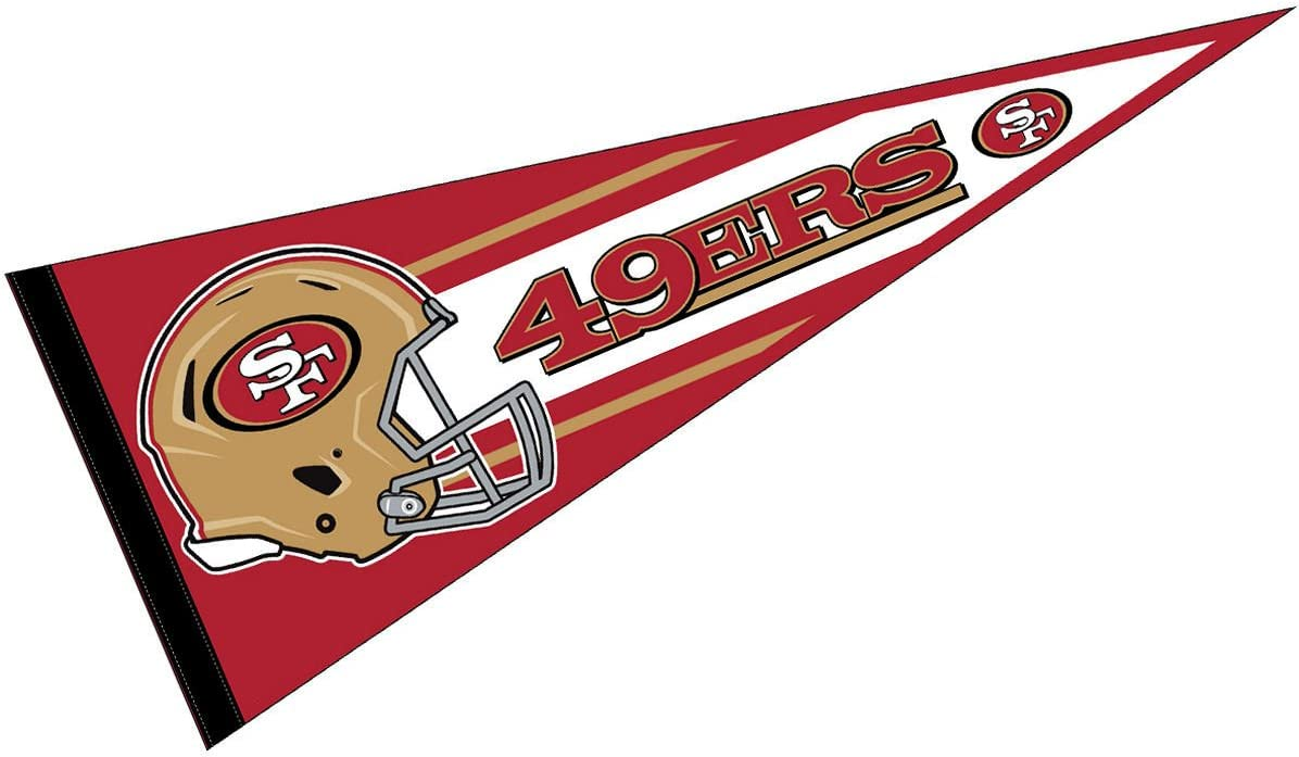 WinCraft San Francisco 49ers Official 30 inch Large Pennant