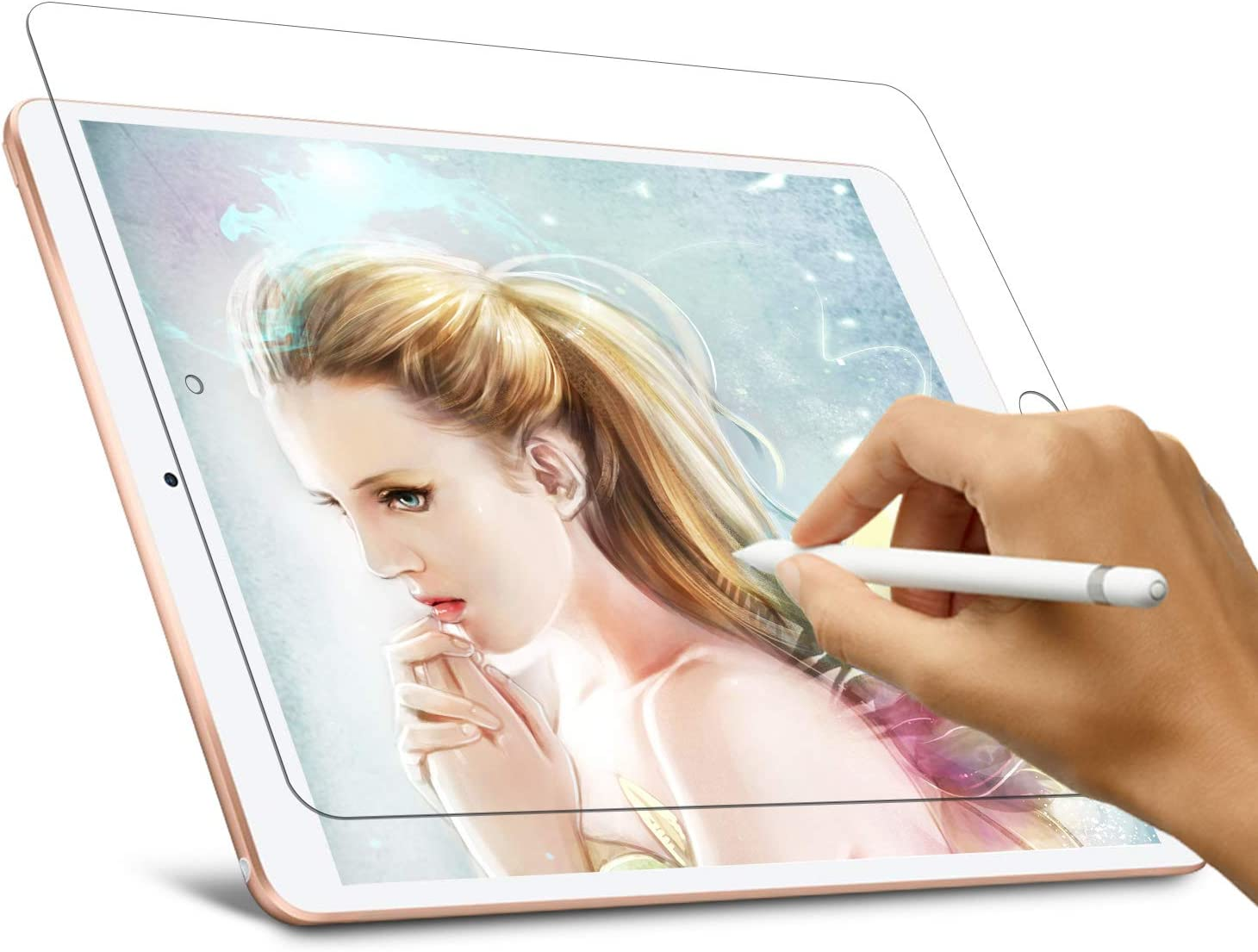 Paperfeel Screen Protector for iPad Air 3 (2019) 10.5inch / iPad Pro 10.5 (2017), Homagical iPad Air 3 Screen Protector, Paper Texture Film Anti Glare Scratch Resistant, Compatible with Apple Pencil