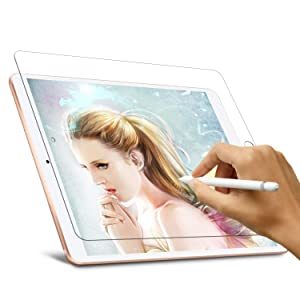 """Paperlike Screen Protector for iPad 9.7 6th/5th Gen, Homagical iPad 9.7"""" (2018 & 2017), iPad Air 1, iPad Air 2, iPad Pro 9.7 Screen Protector-Compatiable with Apple Pencil/Scratach Resistant/Matte PET Film"""