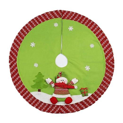 Falda de árbol Adornos navideños Adornos de árbol de Navidad Árbol ...