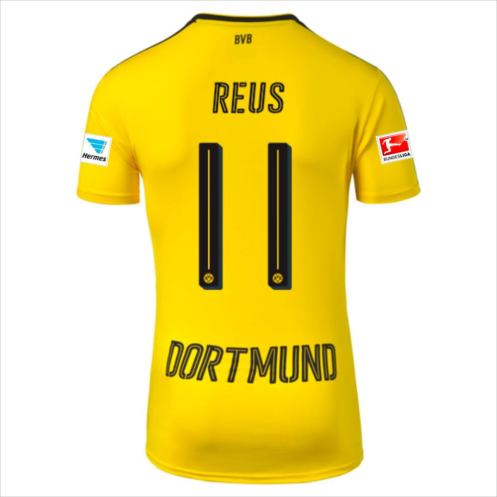 los angeles 546bf eae58 BVB Dortmund Home Marco Reus Trikot 2016/17 Hermes and ...