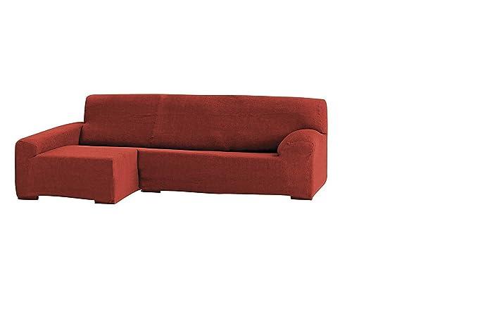 Funda para sofá Teide chaise longue 240 cm. derecha vista frontal - col. 09-naranja