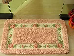 Luk Oil Bedside Rugs Kitchen Floor Mats Rectangular Carpet Doormat Pink-16WideX24Long(Inch)