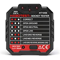 Andoer HABOTEST Advanced RCD Electric Socket Tester Automatic Neutral Live Earth Wire Testing Circuit Polarity Detector Wall Plug Breaker Finder Electric Leakage Test