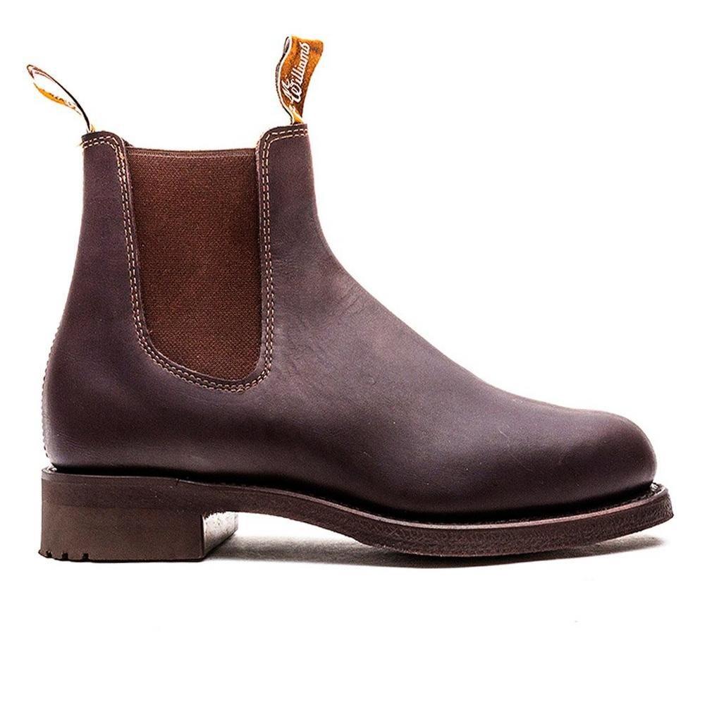 b8b7336babe Amazon.com | R.M. Williams Gardener Greasy Kip brown | Shoes