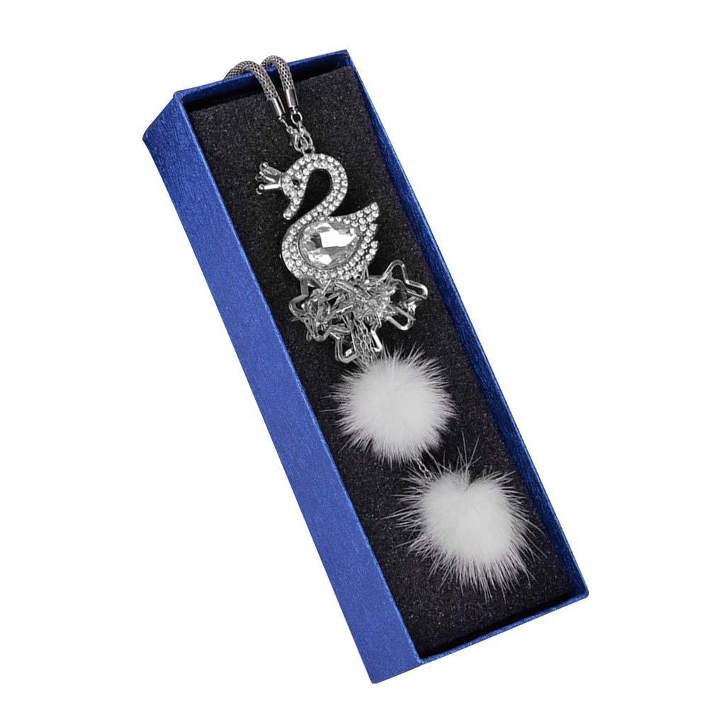 Vosarea kristall schwan auto h/ängen anh/änger strass h/ängen ornament innenausstattung geschenk auto styling
