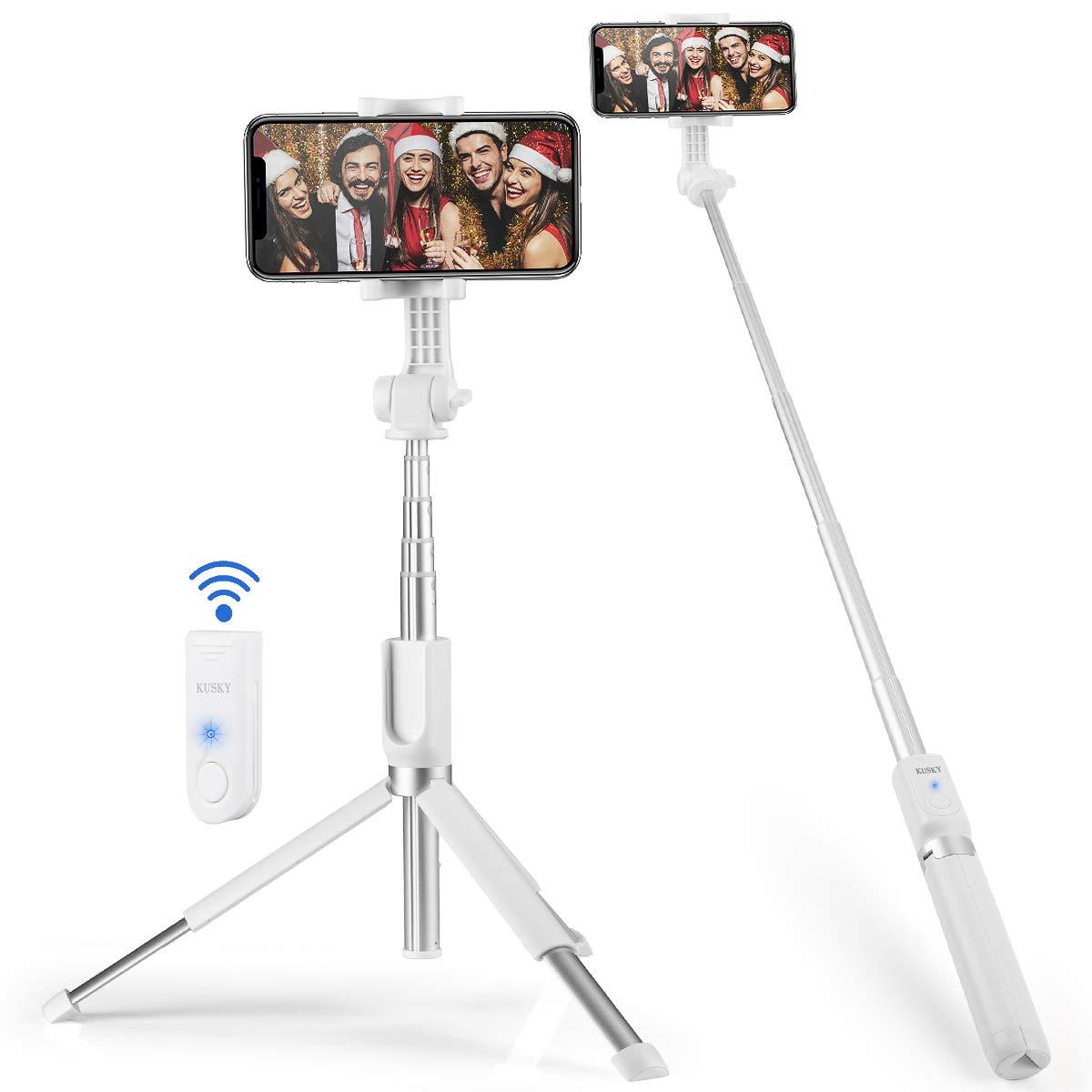 Selfie Stick Bluetooth (White-1)