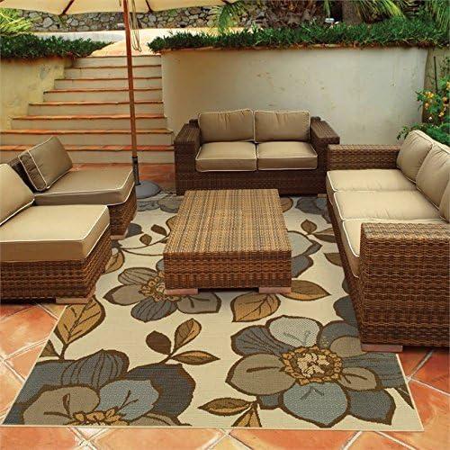 Oriental Weavers Bali 9448M Outdoor Indoor Area Rug, 8-Feet 6-Inch by 13-Feet