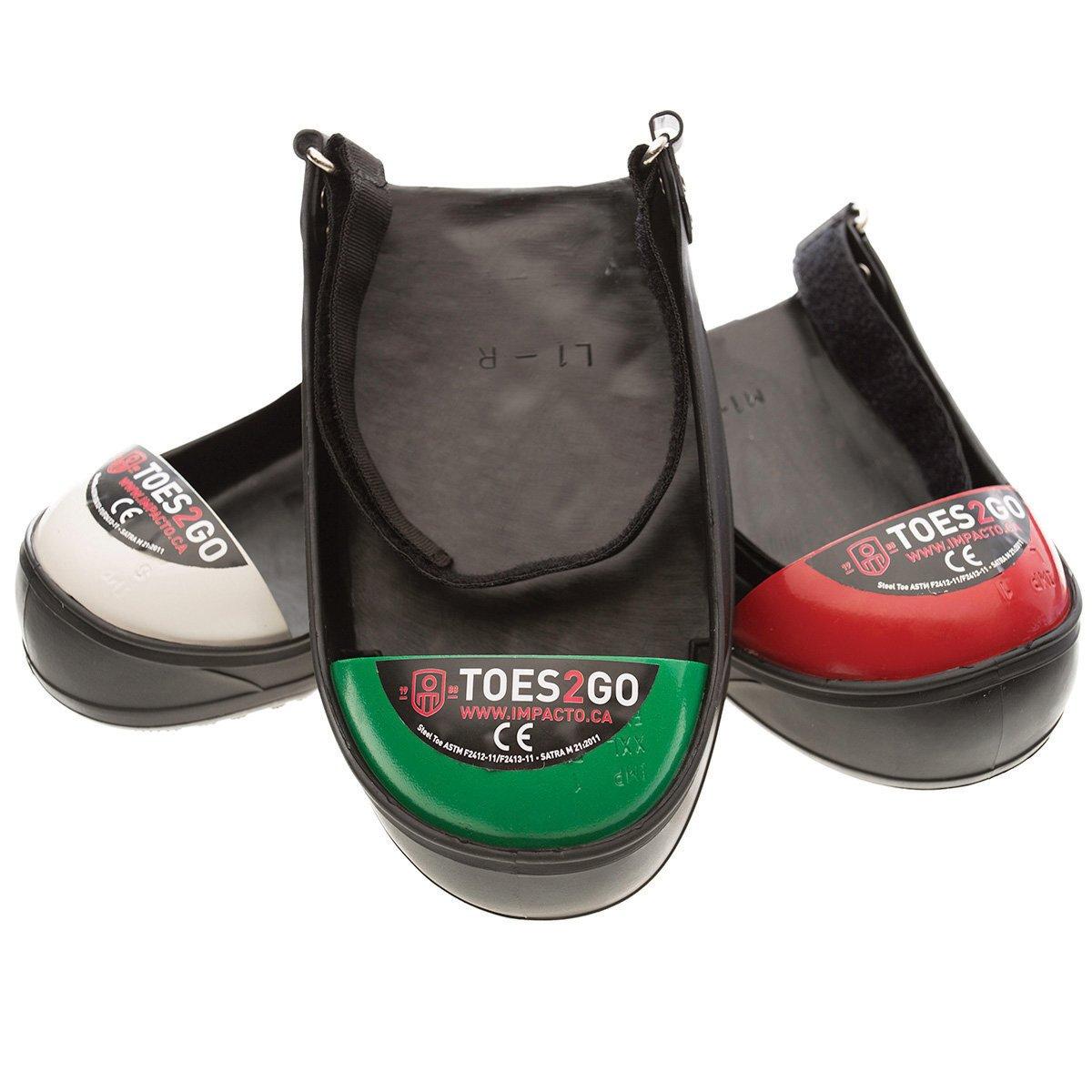 IMPACTO T2GUM Adjustable Steel Toe Overshoe RED M8-13 W10-13 PR