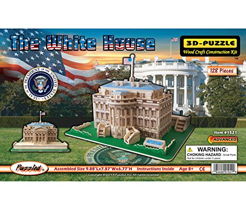 3D Natural Wood Puzzle - The White House
