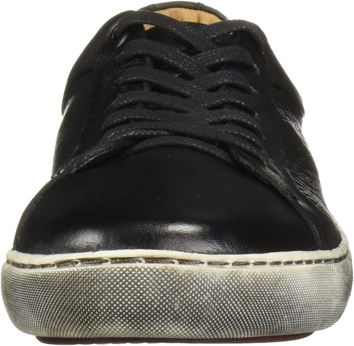 Driver Club USA Mens Leather Made in Brazil San Francisco Sneaker Black White Brushed Sole