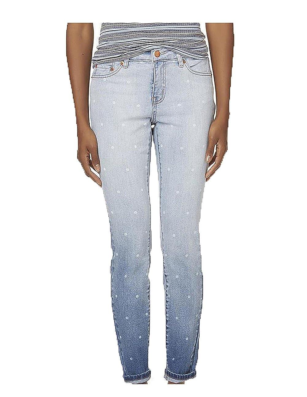 3444e0bc5 ROEBUCK   CO R1893 Womens Dot Print Skinny Blue Jeggings Jeans Sizes ...