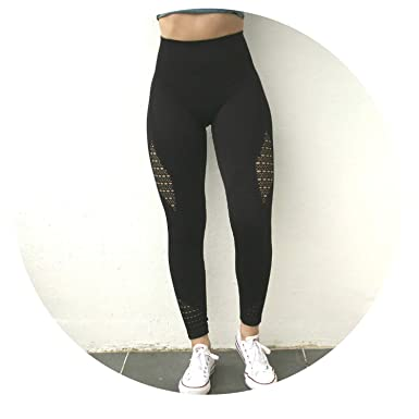 df710f61b8804 Image Unavailable. Image not available for. Color: Special -Love Women  Energy Seamless Tummy Control Yoga Pants Super Stretchy Gym Tights High  Waist
