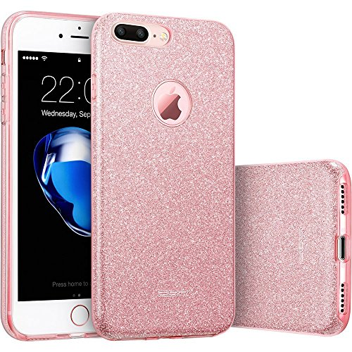 iPhone 7 Plus Case, ESR iPhone 7 Plus Makeup Series Back Cover Shinning Protective Bumper Bling Glitter Case for 5.5 inches iPhone 7 Plus(Rose Gold)