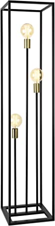 lux.pro Stehleuchte 140cm Design Standlampe 3 x E27 60W Stehlampe Standleuchte Stand Lampe Metall 3 flammig