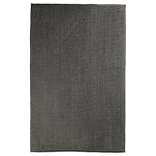 IKEA TOFTBO Microfiber Bath Mat - 35 x 24 | 1.25 Thick - Ultra Soft Super Absorbent Fast Dry (1, Gray) by IKEA