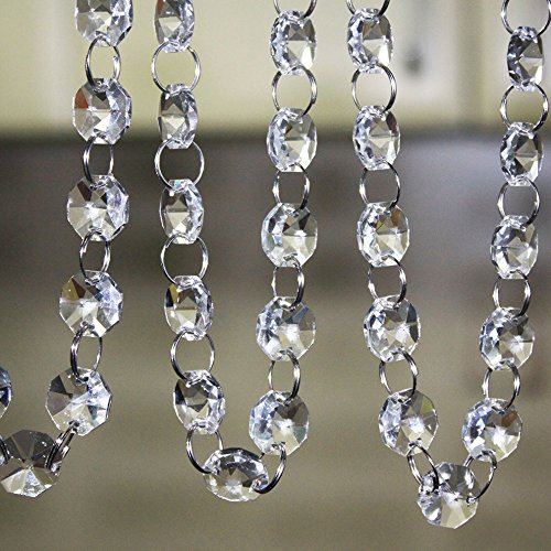 SKY CANDYBAR Crystal Clear Acrylic Bead Garland Chandelier Hanging wedding Decoration 33 - Clear Crystal Large Acrylic