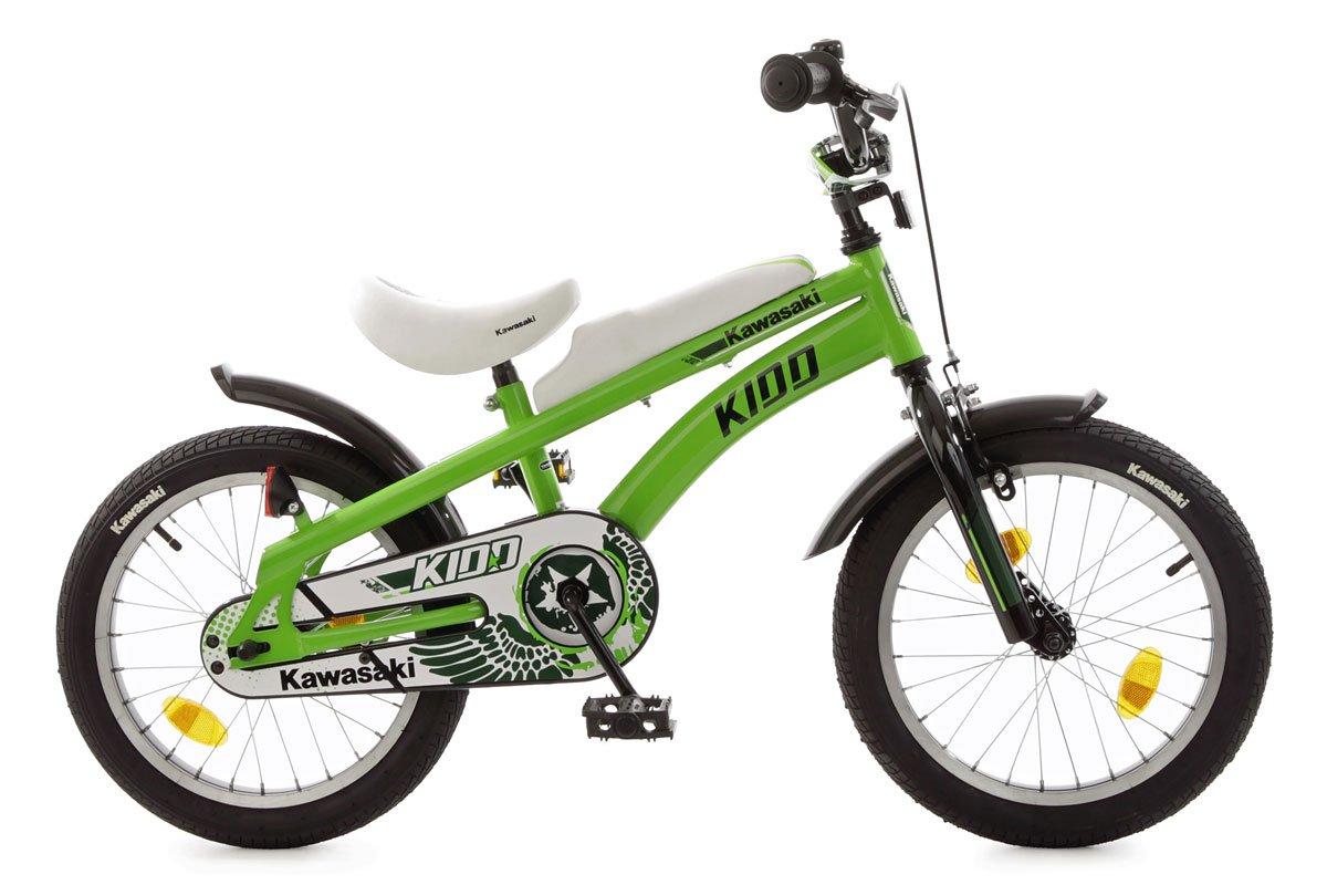 Bachtenkirch Kinderfahrrad 16& 039;& 039; Kawasaki Kidd grün-schwarz RH 20 cm